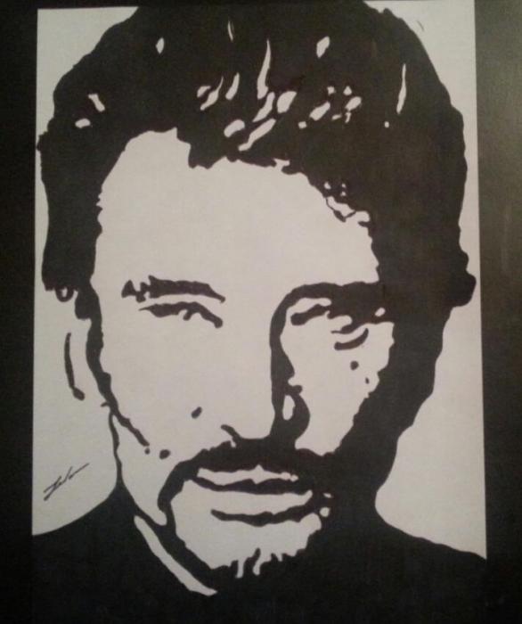 Portrait Of Johnny Hallyday By French59 On Stars Portraits